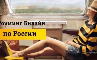 Выгодный роуминг билайн по россии