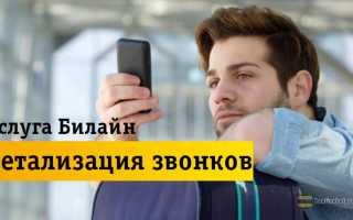 Детализация звонков билайн бесплатно без регистрации