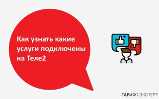 Как посмотреть подключенные услуги на теле2